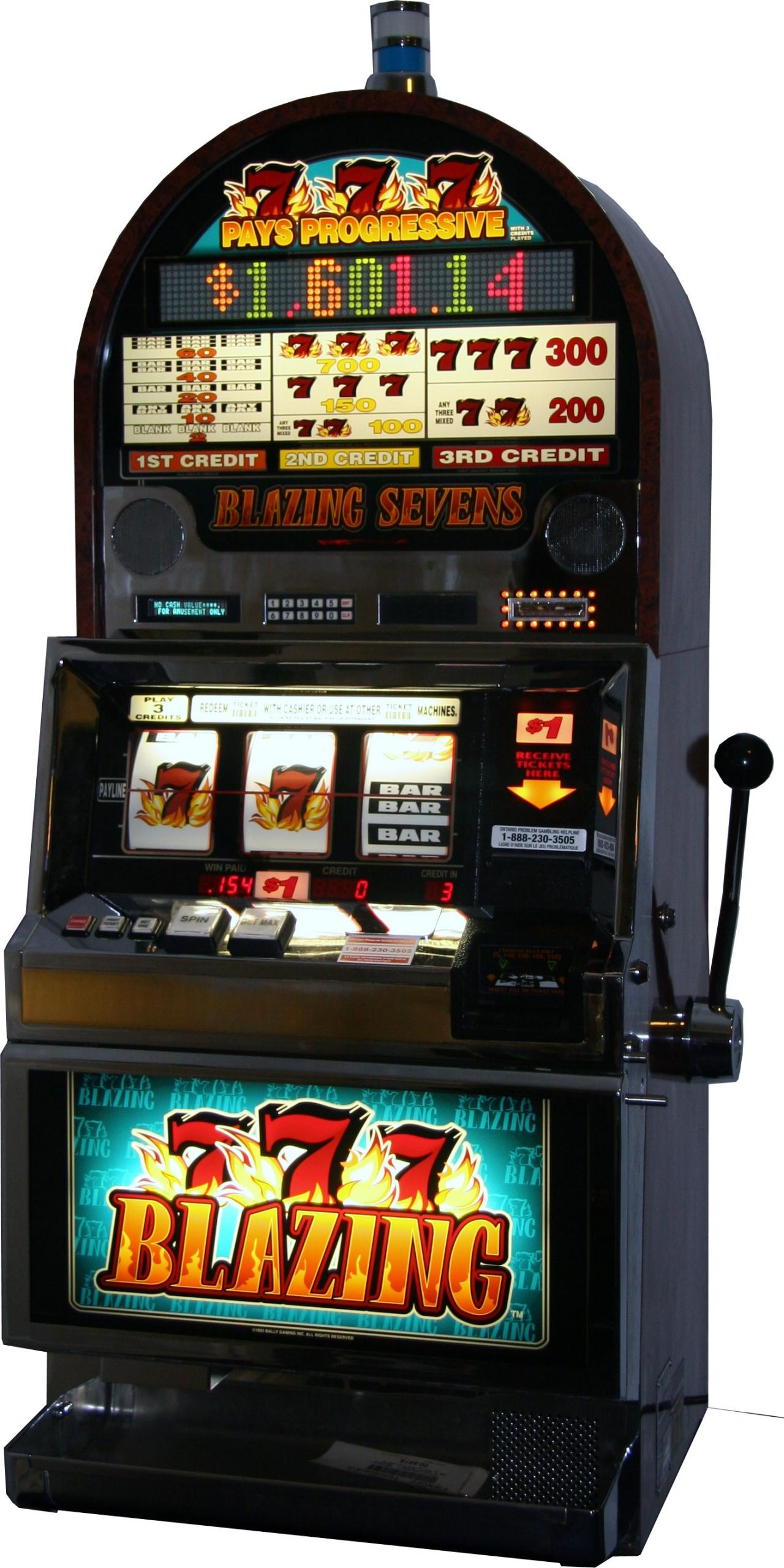 blazing 7s slot machine